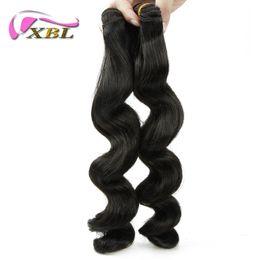 Tangle Free Shedding Free Peruvian Hair Loose Wave 2 Pieces Free Shipping Peruvian Human Hair Extension