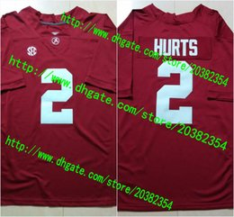Wholesale 2 Jalen Hurts Bo Scarbrough Ridley Derrick Henry Cooper Bateman Alabama Crimson Tide College Football Stitched Jersey