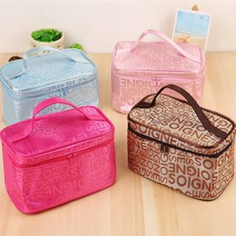 Wholesale Women Cosmetic Bag Makeup Bags Cases Waterproof Nylon Organizer Bag Cases Outdoor Storage Packing Cubes Travel Toiletry Bag Bolsos de Mujer