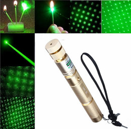 Wholesale Best super Powerful AAA high power m led flashlight Green laser pointers nm Burn Matches Light burn Cigarettes safe key