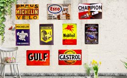 Wholesale quot Michelin Tire Esso quot Metal Signs Tin Signs for the Man Cave Garage Service Station Wall Decor