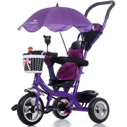 Wholesale Luxury Infant Baby Stroller Umbrella Tricycle Bicycle Children Steel Frame Pneumatic Wheel with Awnings Kids Learning Bike Prams JN0058