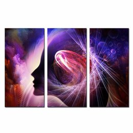 Wholesale LK3225 Panels Combination Oil Painting Brain impressionist Wall Art Modern Pictures Print On Canvas Paintings For Home Bar Hub Hotel Resta
