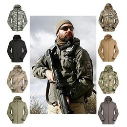 Wholesale Hot outdoor Lurker Shark Skin Soft Shell TAD V4 Tactical Jacket Waterproof Windproof Camouflage Army Clothing