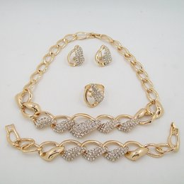 Wholesale 18K Gold Plated Fashion Jewelry Sets Necklace Jewelry High Quality Factory Outlets In Europe And America