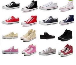 Wholesale - shoes Brand New Unisex Low Style Adult Women&039;s Mens Canvas Shoes Laced Up Casual Shoes Sneaker 13 Colors Drop Shipping Top