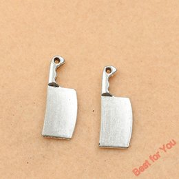Wholesale 100pcs Antique Silver Plated Knife Charms Beads Pendants for Jewelry Making DIY Handmade x9mm jewelry making