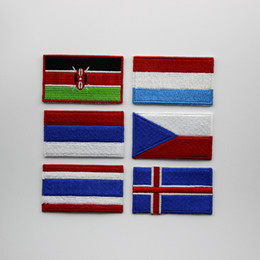 exquisite embroidery stickers patch clothes applique national flag embroidered country flag patche free shipping random delivery