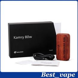 2016 mods boîte en bois gros bois boîte de commande mod ecig temp Kamry UTC mod Vaporisateur 80w mod VS Smok Quantum 80W Mod promotion mods boîte en bois