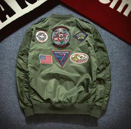 2016 New Spring Bomber Jacket Men Fashion Long Sleeve Pilot Jacket MA1