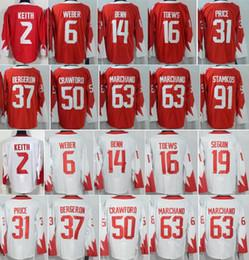 Wholesale 2016 WCH Carey Price World Cup Jerseys Ice Hockey Jonathan Toews Jamie Benn Patrice Bergeron Steven Stamkos Duncan Keith
