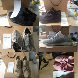 Orignal Box Bag Receipt Drop Shipping Cheap Famous 350 Boost Low MoonRock Women Mens Running Shoes Size 5-12.5
