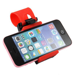 Promotion volant pour les vélos Universal Car Volant Phone Socket Holder Smart Clip voiture Bike Mount Pour Iphone Samsung Android Mobile Phone Utilisation Facile GPS Avec Détail