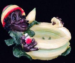 Wholesale Arabia smoking style resin banana man black smoker Reggae Jamaica ashtray model art resin Buy home