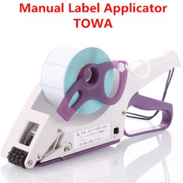 TOWA sticker applicator, handhold labelling machine, manual labeller, LA30 60 100, handy packaging tool