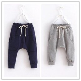 Terry Cloth Boys Harem Pants 2016 Brand New Children Clothes Kids Sport Pant Boy Clothing Navy Grey Casual Trouser Wholesale