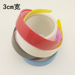12pcs lot 3cm Wide headband Wholesale Cute Candy Color hair Accessories girl Hair Jewelry Plastic hair band