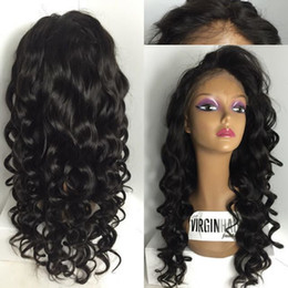 7A brazilian glueless silk top full lace wigs wavy silk top lace front human hair wig with baby hair for black women