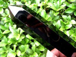 16-18CM Big Natural Black Obsidian Quartz Crystal Single Terminated Wand Healing