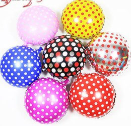 Black Silver Red Mixed 18 Inch Foil Balloon Birthday Wedding Party Decoration Round Polka Dot Balloon High Quality 10Pcs lot