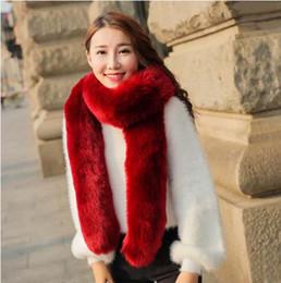 Wholesale 2016 FW Rabbit Fur Scarves For woman Autumn Lady s Echarpe Genuine Rex Rabbit hair Scarves Wraps Winter Women Fur Accessory Rings Females Ne