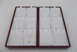 Fashion Wooden Jewelry Display Tray Case Pendant Display holder Stand for 6 pendant
