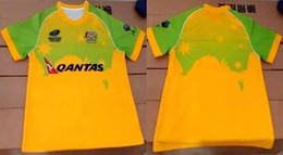 Wholesale 2015 Australia Rugby jersey NZ Rugby home yellow Shirt camisetas de rugby Thai Quality super rugby jersey