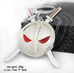 New Arrival Anime Catoon X-men Deadpool Metal Keychain Pendant Key Chain Chaveiro Stainless Steel Key Ring free ship 1595
