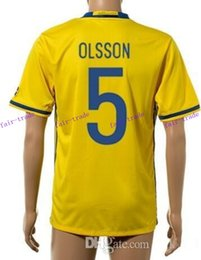 Wholesale thai quality customized sweden european cup olsson soccer jersey shirts discount cheap toivonen berg sports wear tops_