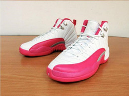 Wholesale TOP Quality air 12 basketball shoes DYNAMIC Pink Valentines Day Flu Game Retro 12s Women girl lady XII Size 5.5-8.5