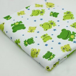 Wholesale Hot sale cm stretchy printed cartoon baby cotton jersey fabric DIY baby sewing pajama clothing fabric by half meter