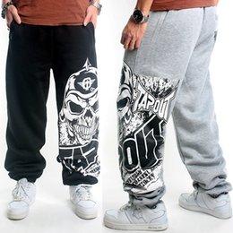 Desconto comprimento cintura quadril Atacado-Men Casual Mid cintura elástica Emoji impressão Corpo Inteiro Desporto Hip Hop Corredores soltas calças de pernas largas Plus Size 2016 Hot alta qualidade