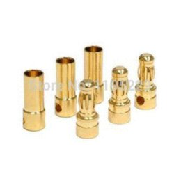 Wholesale 50pairs Generic mm mm Gold Bullet Connector Battery ESC Plug battery park plug holder