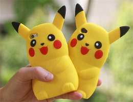 Wholesale 3D Poke Pikachu Soft Silicone Animal Case For Iphone S Plus I6 I6S S SE MOTO G3 Samsung Galaxy J5 J7 Cartoon Rubber Phone Cover Skin