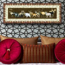2016 единая панель 1 фото Сочетание Amesi Спрей Печать холст картины маслом одной панели Различные виды животных декора стены искусства для гостиной дешевый единая панель
