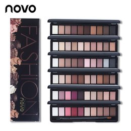 Wholesale Fashion Eye Makeup Palette Natural NOVO Make Up Light Colors Eye Shadow Shimmer Matte Eyeshadow Cosmetics Set With Brush PC