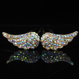 100pcs(50pair) New Fashion Jewelry Gold Silver Plated Angel Wings Hair Pins Women Clip Hairpins for Girls Bridal Wedding Hair Accessories