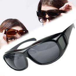 HD Vision nocturne lunettes de soleil unisexe de conduite Lunettes de soleil jaune sur envelopper autour de lunettes Lunettes antireflet HD Sun Optics supplier hd sunglasses wrap à partir de lunettes de soleil hd wrap fournisseurs