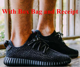 Wholesale With Original Box Bag Receipt BOOST BLACK Running Shoes Trainers Sports Shoes Kanye West Dropshipping Accepted