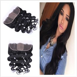 Cheap Silk Base Lace Frontal Closure With Baby Hair Body Wave Wavy Virgin Indian Human Hair Silk Top 13x4 Full Lace Frontal Pieces