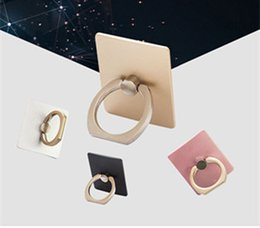 Wholesale The New Lazy Ring Card Buckle Paste Type Flat Bracket Pure Color Phone General Ring Stand