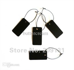 Wholesale Black Blank Jewelry label tags Necklace Earring Bracelet tag lable Jewelry Card Black Paper Card price tags with string
