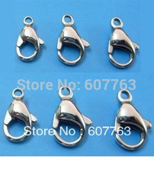 Super Quality 316L Stainless Steel Lobster Claw Clasp Stainless Steel Lobster Claw Clasp,9MM-19MM For Choice,100pcs bag