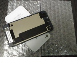 500 pcs Back Glass Battery Housing Back Cover Replacement Part with Flash Diffuser for iphone 4 4S DHL free