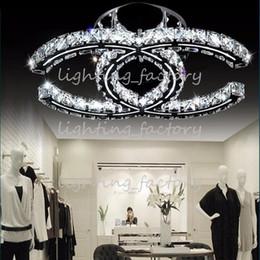 Descuento montaje en el techo accesorios de iluminación LED 5w 18w 35w lámparas de cristal modernas llevado pendiente de la luz ámbar plata ras techo lámparas de montaje 110-240V para la sala