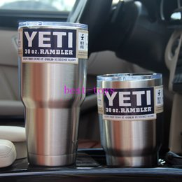 Wholesale YETI Coolers Stainless Steel Mugs oz Automotive glass Large Capacity Stainless Steel Car Cup Liquid Cup