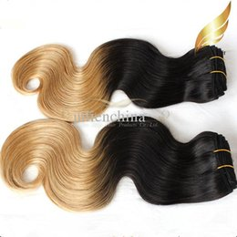 Queen Hair Product Brazilian Ombre Hair Extensions Body Wave Wavy Human Hair Weft T Clolor Ombre Hair 14-30 Inch 3pcs lot DHL Free Shipping