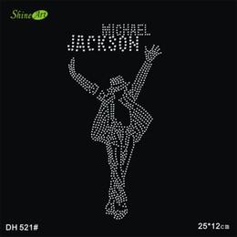 Free shipping Michael Jackson hot fix rhinestone motif rhinestone iron on transfers designs rhinestone iron on transfers designs DIY DH521#