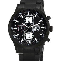 Wholesale SKONE Mens Quartz Drive Waterproof Running Sports Cheap Stainless Steel Cool Best Brands Chronograph Nice Wristwatch