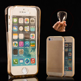 Clear TPU Case for iPhone 5s 5 SE 6s 6s plus 7 7 plus Soft Gel Silicon Front + Back Cases 360 Full Body Protect Phone Cover
